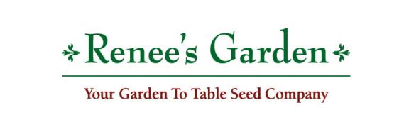 "Renee's Garden ""Your garden to table seed company"" logo."